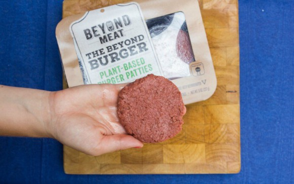 Beyond meat burger patty