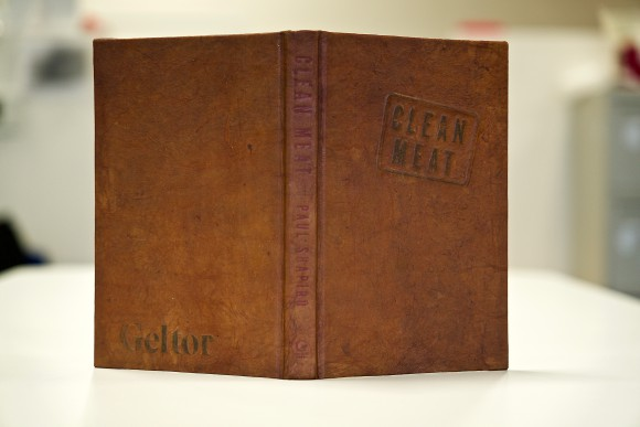 Clean leather bound book