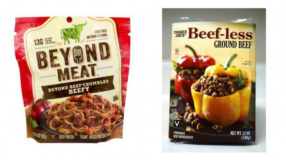 Beyond meat and trader joe's beef-less burger products