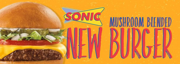 Sonic mushroom blended burger