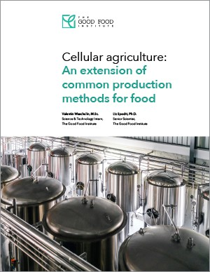 Cellular agriculture: an extension of common production methods for food cover