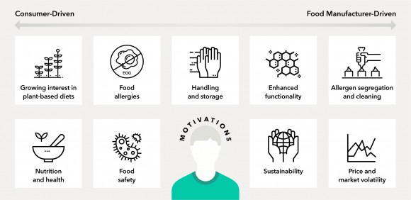 Consumer and manufacturer motivations infographic