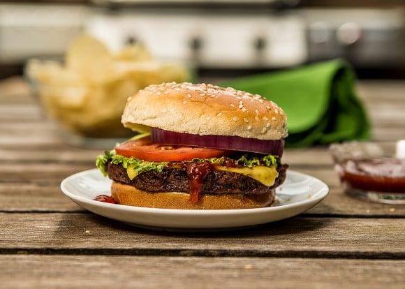 Meat lover's vegan burger