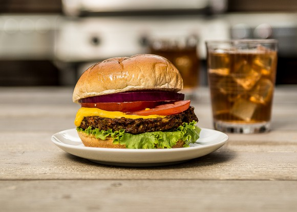 Veggie lover's vegan burger