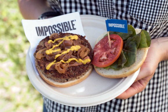 Impossible burger on a plate