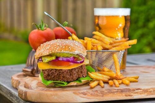 Plant-based hamburger by mosa meat