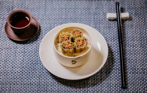 Plant-based shrimp dumplings by shiok meats