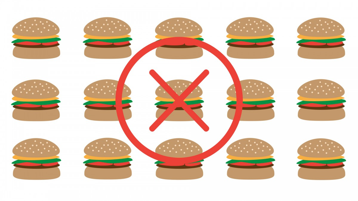 Burgers with x over them