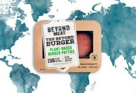 Beyond burger patties on top of world map