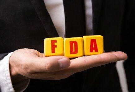 FDA spelled out in blocks