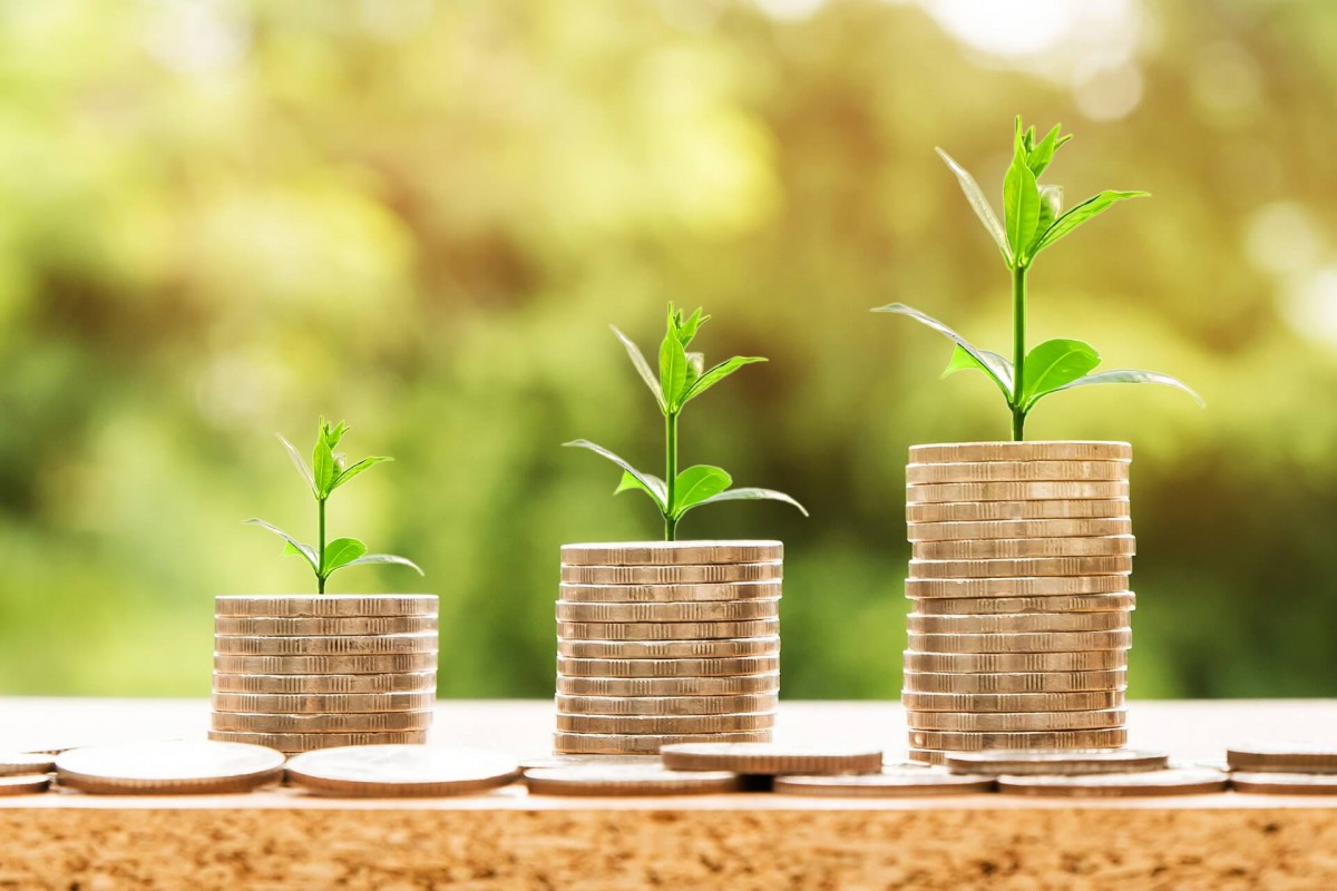Stacks of coins with plants growing out of them_impact investing_esg