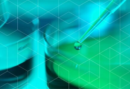 Geometric pattern over glass dropper