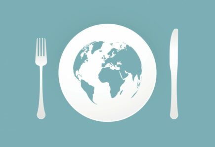 Planet on plate