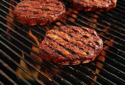 Plant-based hamburger patties