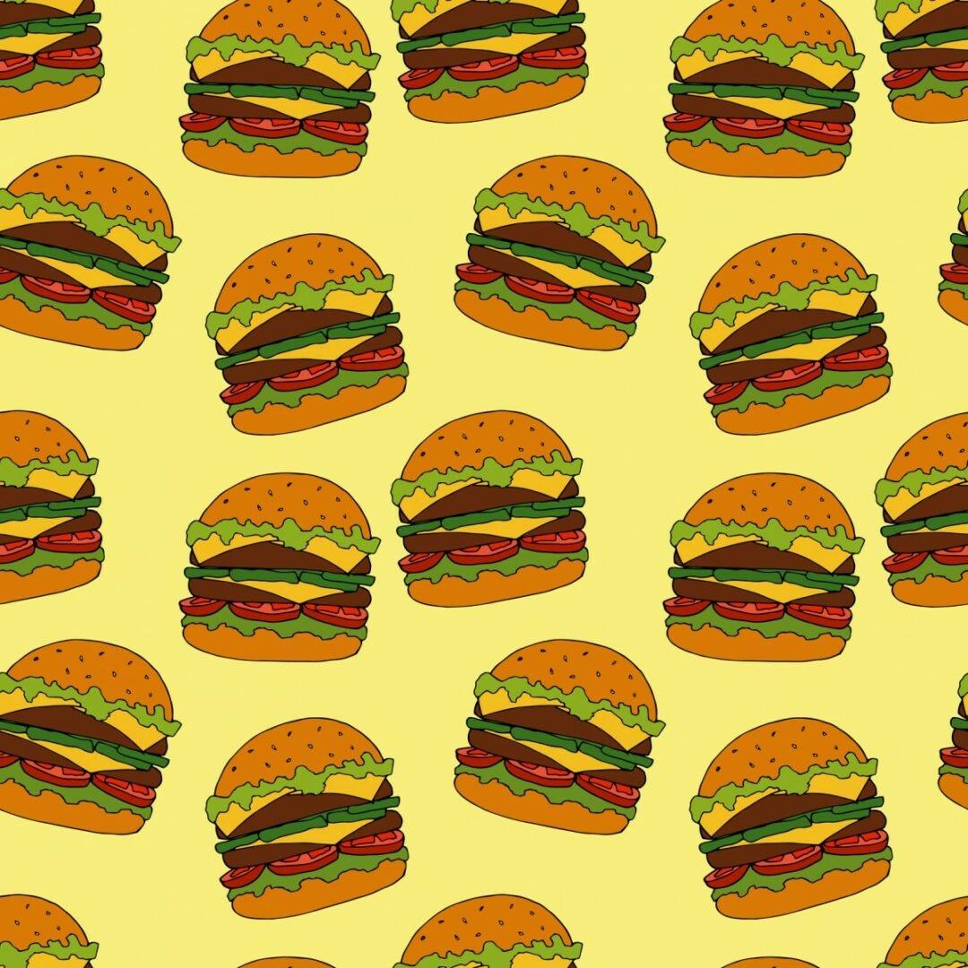 Background with hamburgers