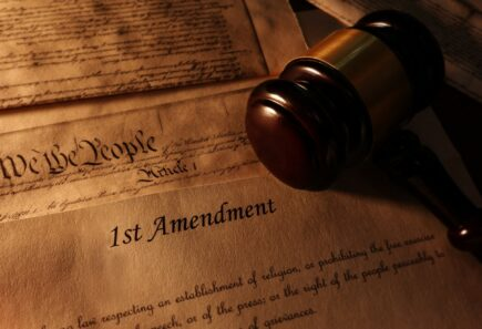 Declaration of Independence with gavel