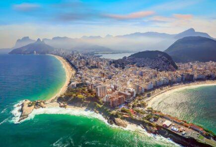 Copacabana Beach and Ipanema beach