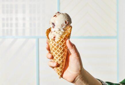 Ice cream in a cone