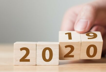 Blocks turning from 2019 to 2020