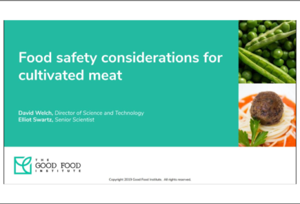 Food safety considerations for cultivated meat webinar graphic