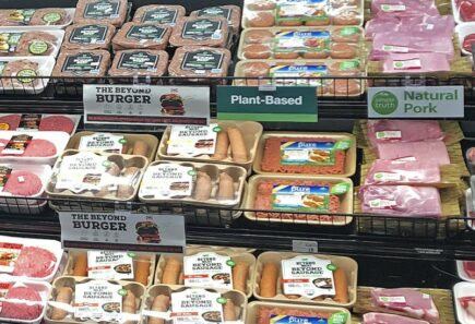Plant based meat in retail