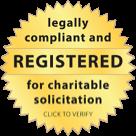 Registered for charitable solicitation badge