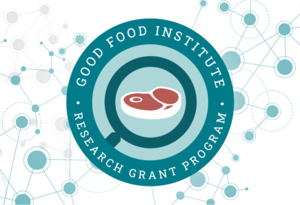 GFI's competitive research grant program badge on a background of abstract circles and lines representing science