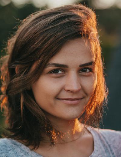 Headshot of Ela Madej, Co-founder & Partner at FIfty Years