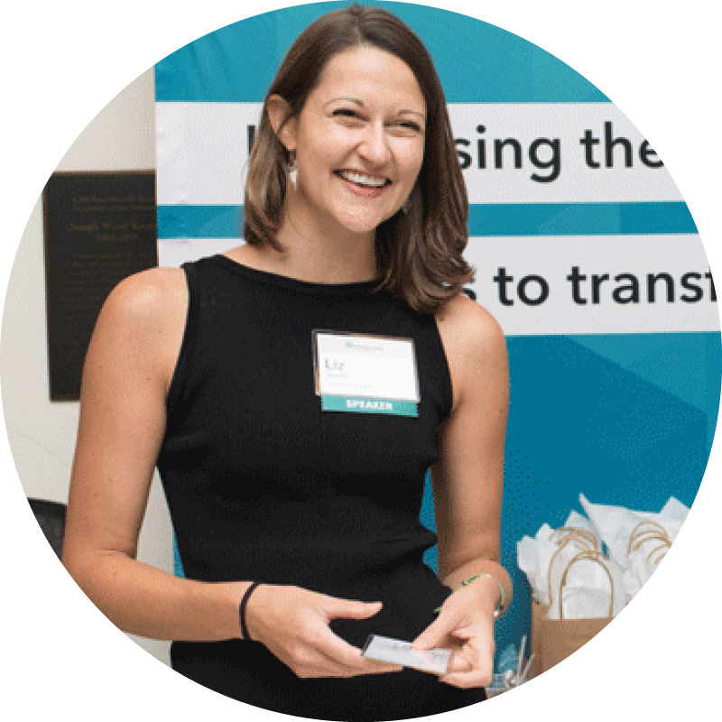 Gfi director of science and technology, liz specht, at the 2018 good food conference
