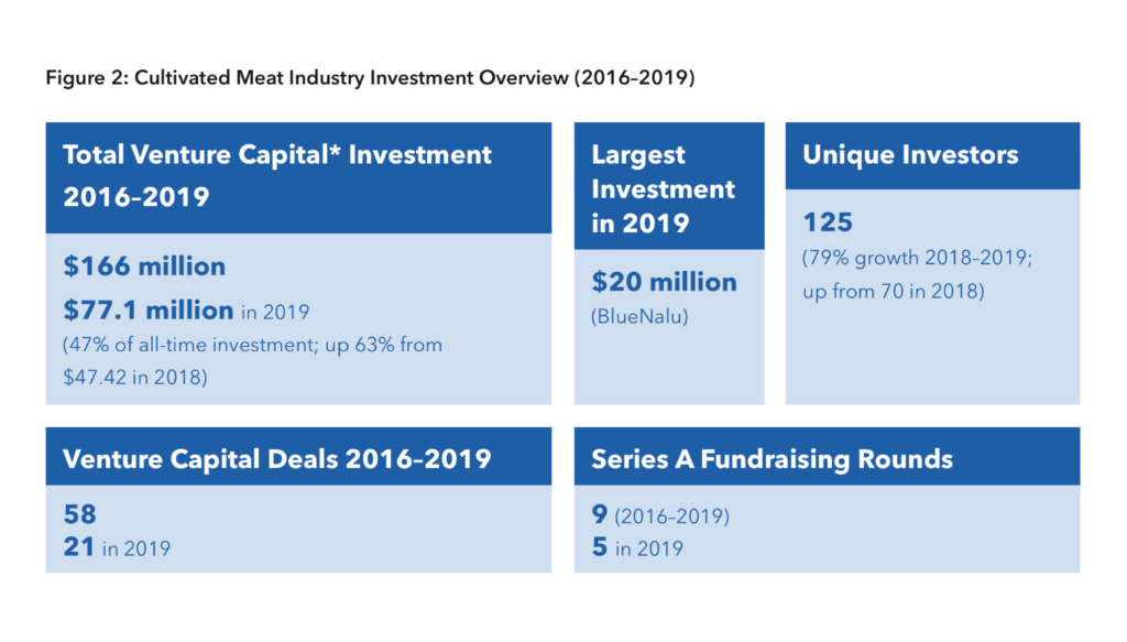 Cultivated meat industry investment overview (2016–2019)