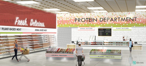 Gfi's protein department of the future with integrated-segregated merchandising across product and protein types