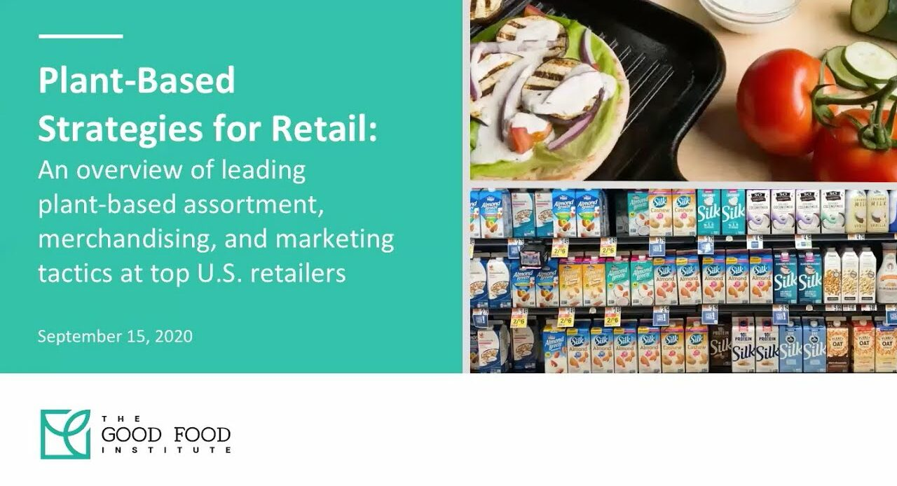 Watch our on-demand webinar on merchandising and marketing strategies for increasing plant-based food sales at grocery stores.