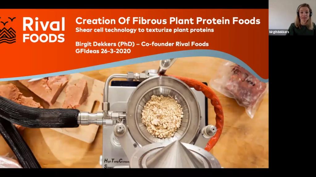 Screenshot of GFI grantee Birgit Dekkers discuss shear cell technology