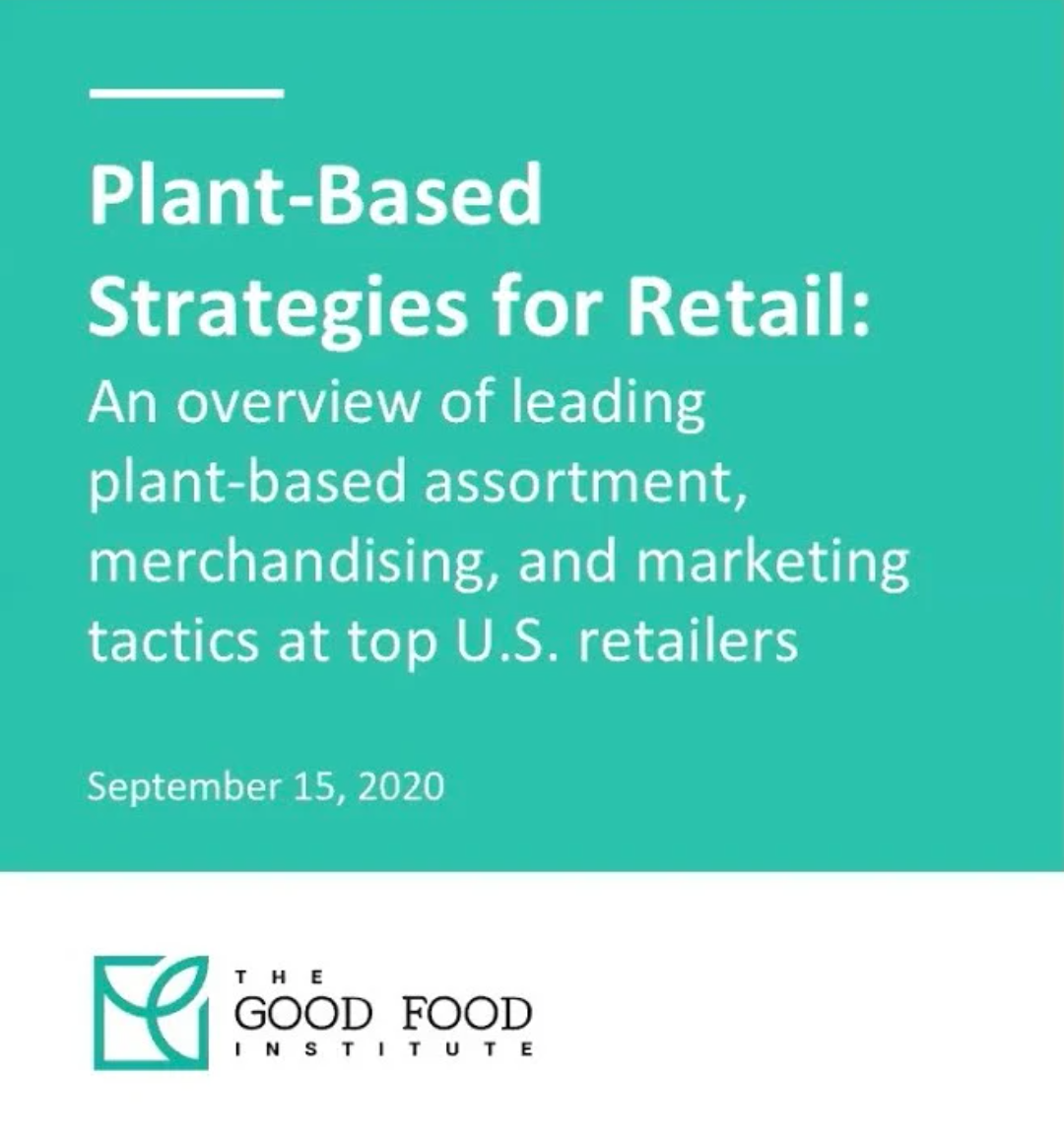 Screenshot from the plant-based strategies for retail webinar