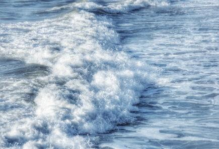 Ocean waves crashing together