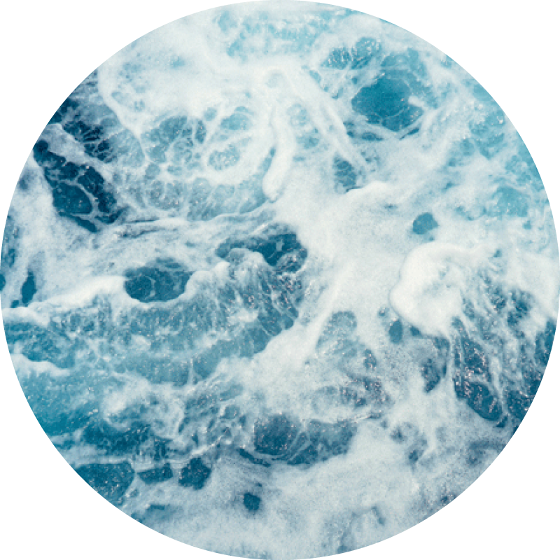 Ocean waves crashing together, representing an ocean sustainability concept