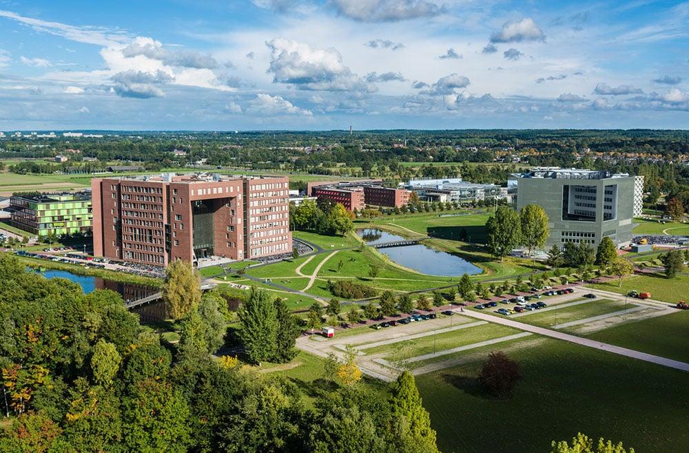Campus of wageningen university in the netherlands