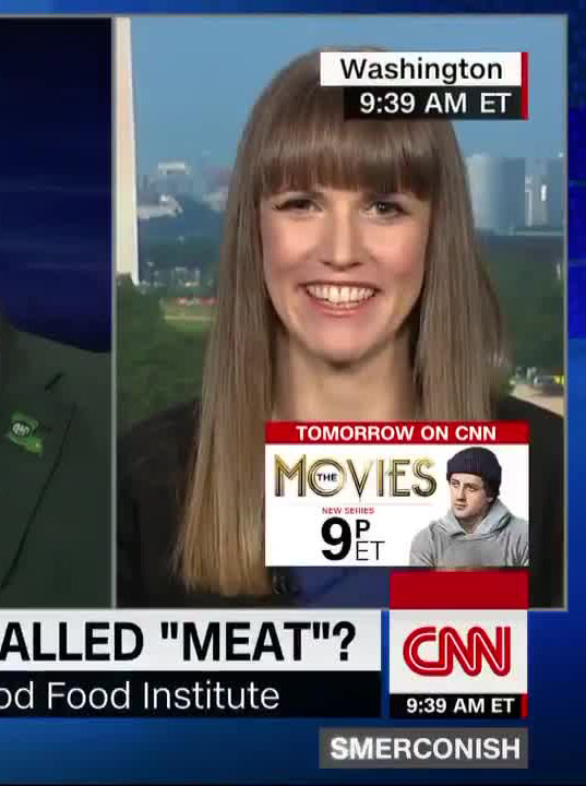 "GFI director of policy Jessica Almy defends terms like ""plant-based burger"" on CNN"