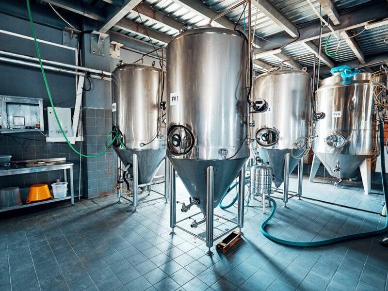 Steel fermentation tanks