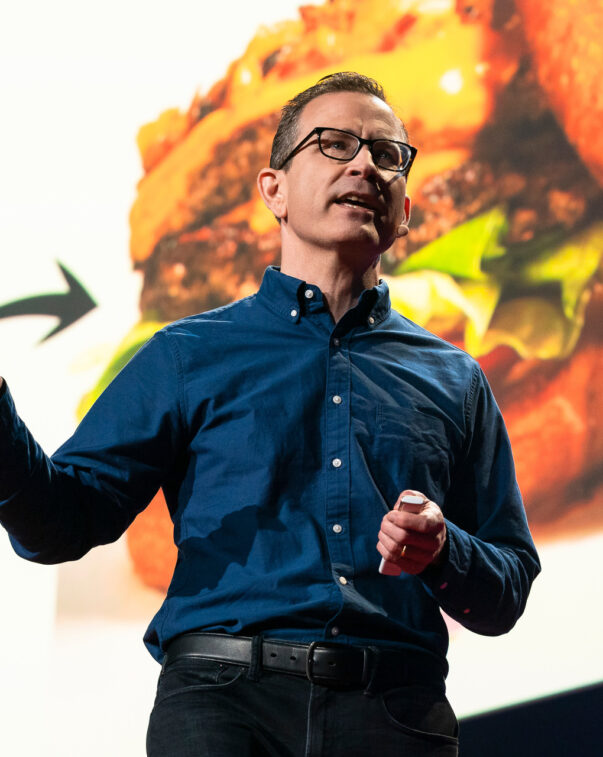 Gfi executive directorbruce friedrich presenting on plant-based and cultured meat at ted