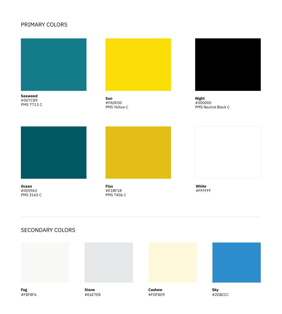 GFI new brand color palette