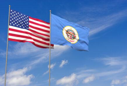 Minnesota flag next to usa flag