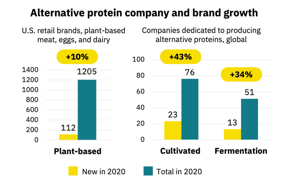 Alternative protein company and brand growth