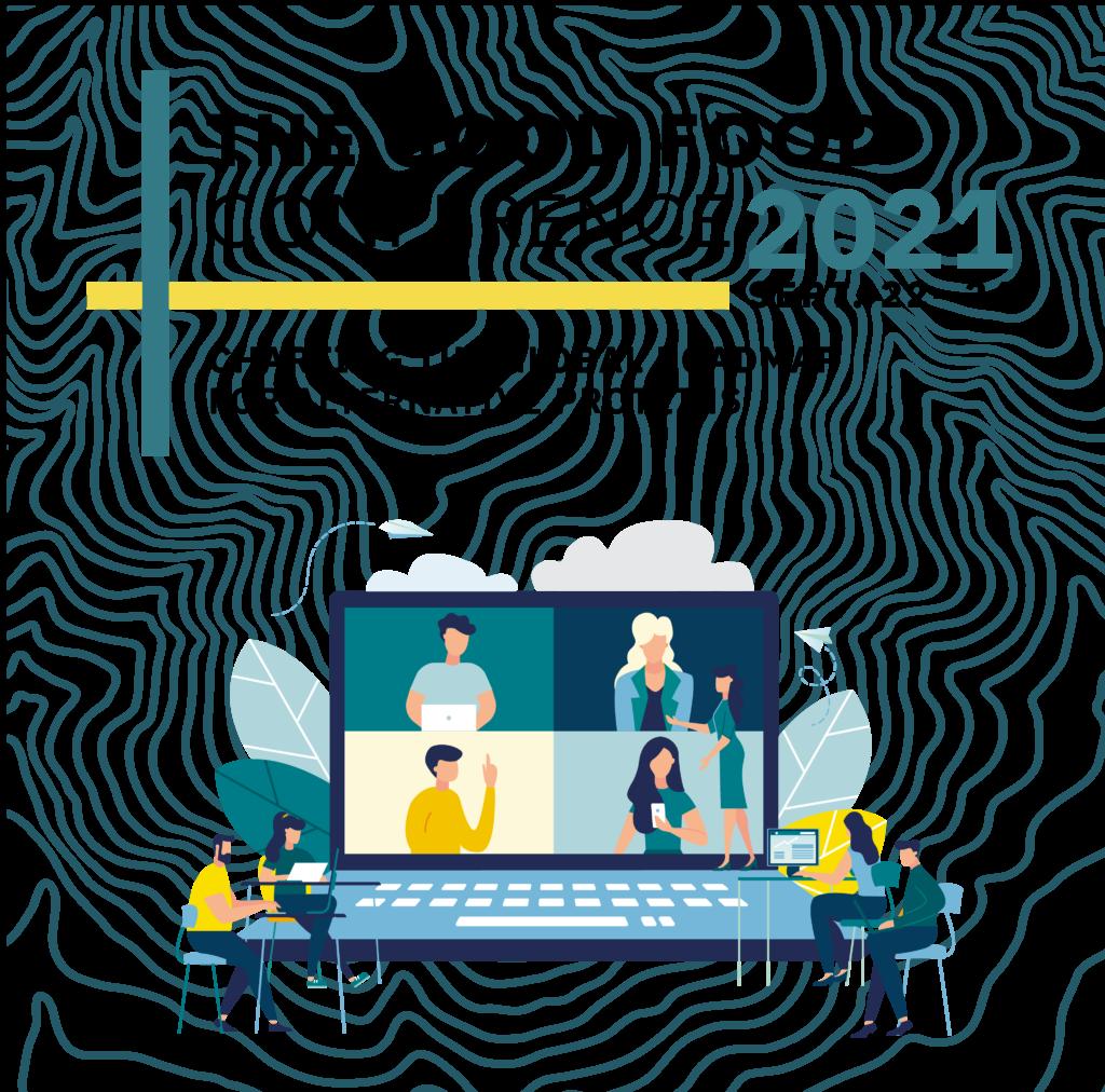 Good food conference logo and webinar illustration